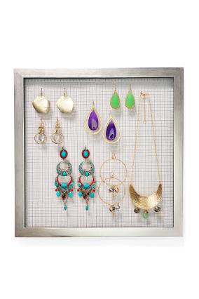 earrings on display