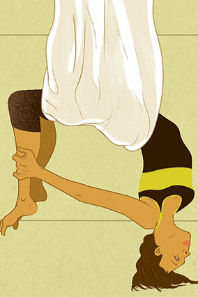 aerial yoga illustration