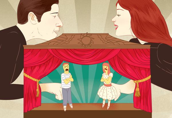 Couple Fighting Illustration