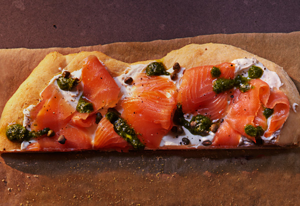 salmon and cream cheese pizza