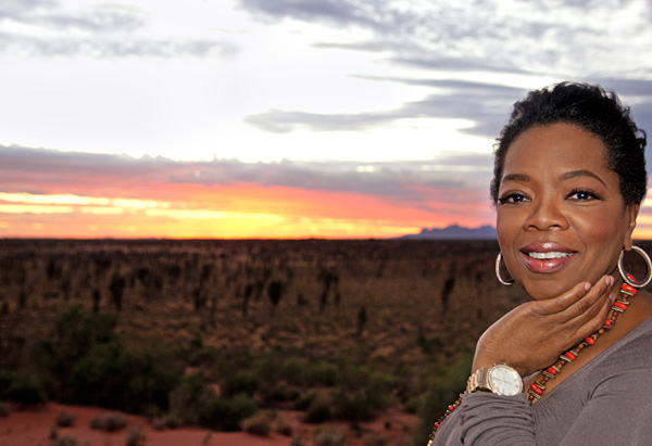 Oprah at sunset