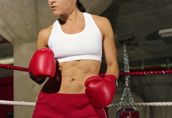 woman boxer in ring