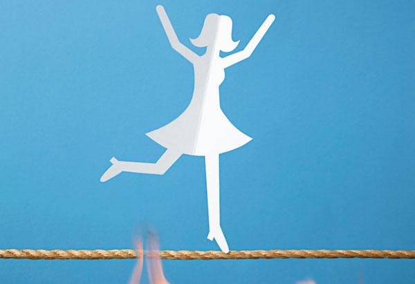 Paper doll dancing