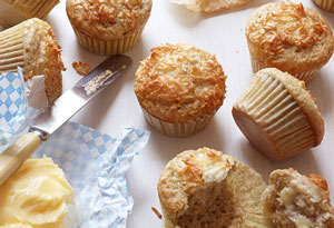 nutty coconut muffins