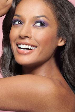 woman wearing bold eye makeup