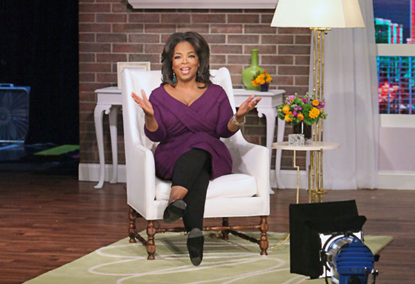 Oprah in white chair