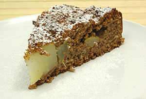 pear gingerbread cake