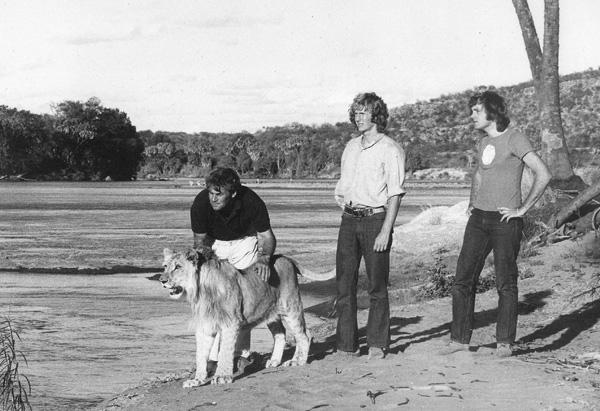 Bill, Christian, Ace and John in Kora, Kenya