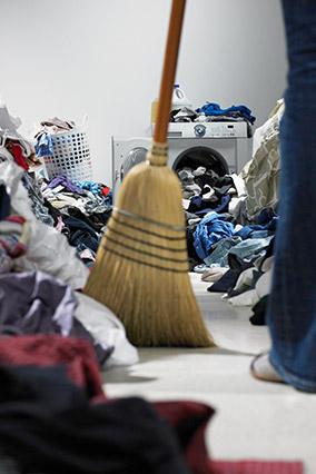Sweeping through mess