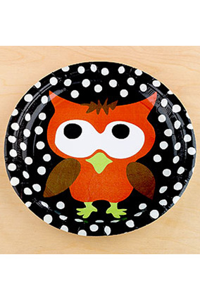 Owl paper plates