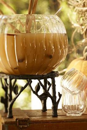 Pumpkin punch bowl and mugs