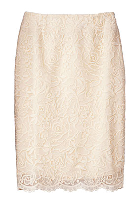 IsaacMizrahiLive lace skirt
