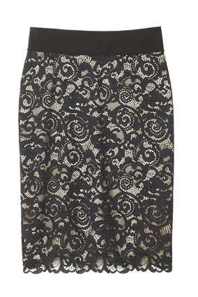 josie natori lace skirt