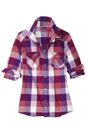 TNA for aritzia plaid shirt