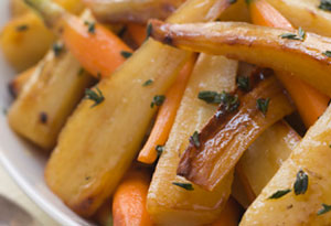 roasted carrot and parsnip
