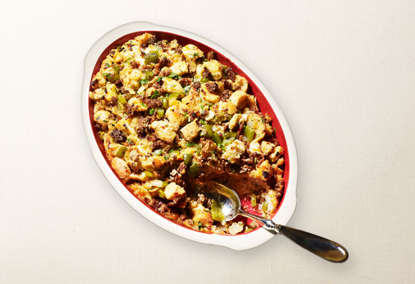 spicy sausage dressing