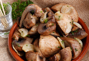 garlic sherry mushrooms