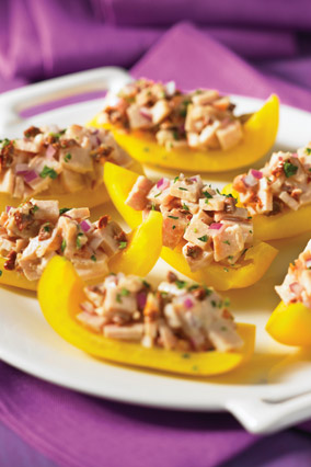 Smoked Chicken–Stuffed Yellow Pepper