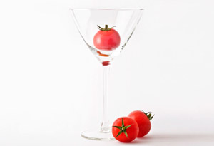 clear chilled tomato soup