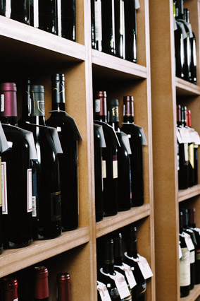 Wine in a wine store