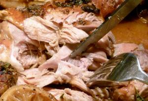 turkey thighs with gravy