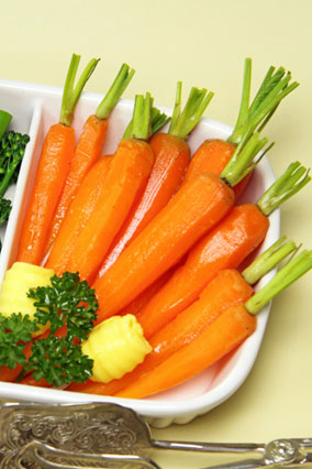 Sauteed baby carrots