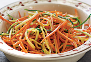 sauteed shredded vegetables
