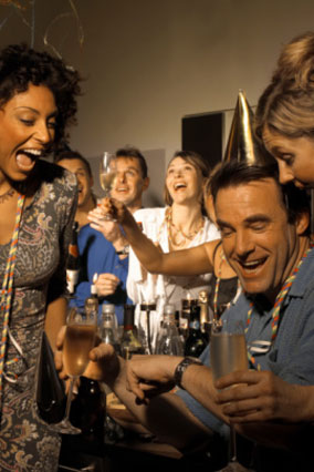 People having fun at a party