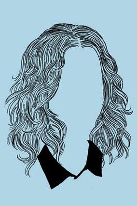 Beachy hairstyle