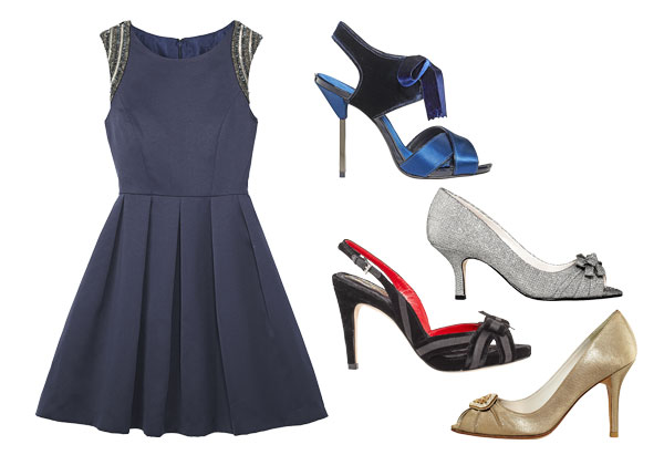 what shoes to wear with navy dress style advice