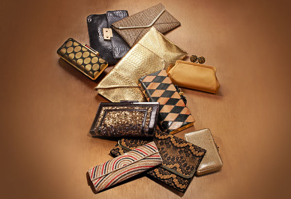 black and gold clutches