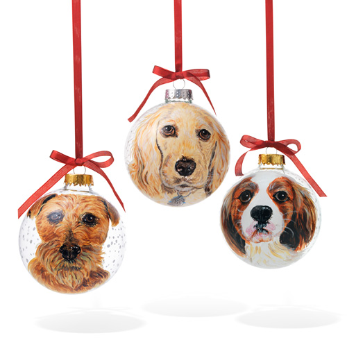 pet portrait christmas ornaments