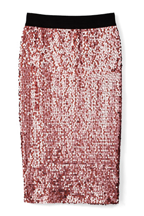 dusty rose sparkle skirt