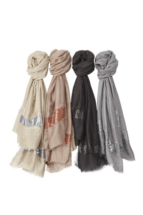 East Cloud sparkly scarves