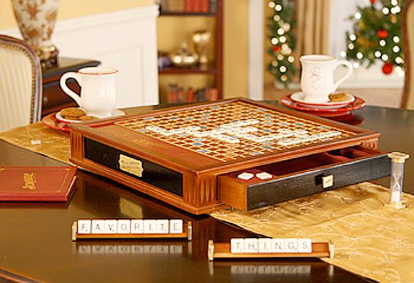 Scrabble Brand Crossword Game Premier Wood Edition
