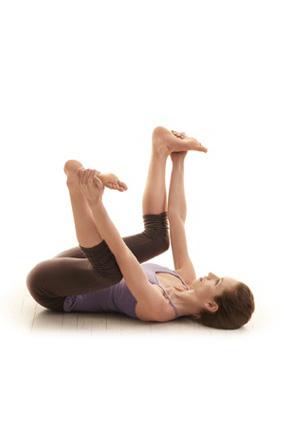 Happy baby yoga pose