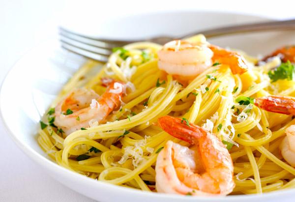 Spaghetti with Shrimp