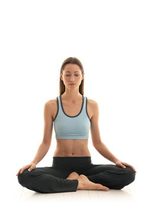 Seated meditation yoga move