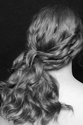 Glamourous side-sweep updo