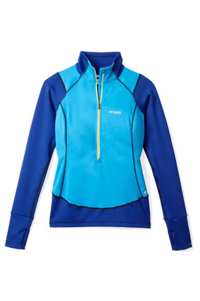 blue workout jacket