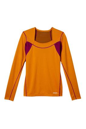 Patagonia orange shirt