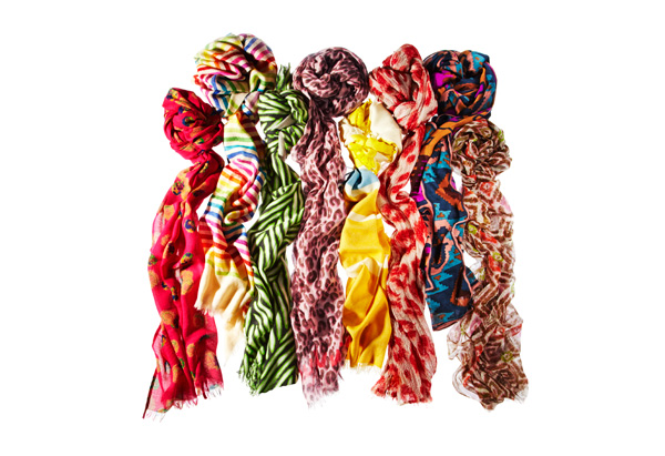 bright scarves