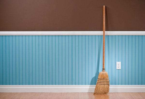 Broom in a clean room