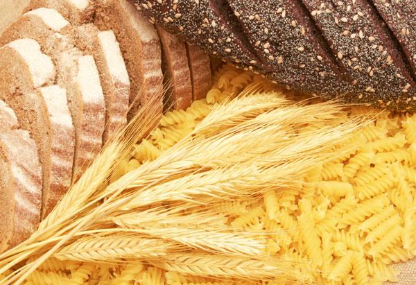 Bread, pasta, wheat