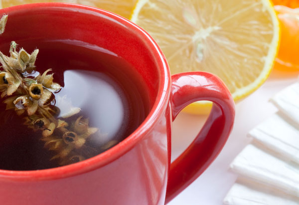 Tea, lemon, herbs, natural remedy