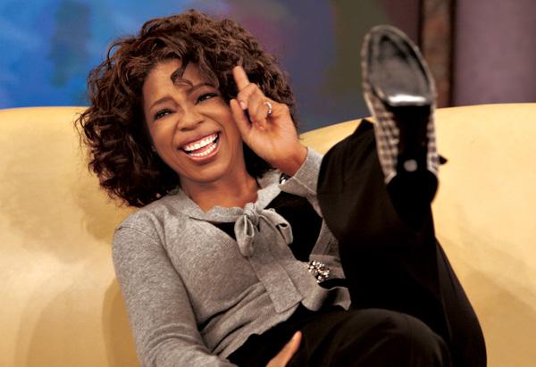 Oprah Winfrey laughing