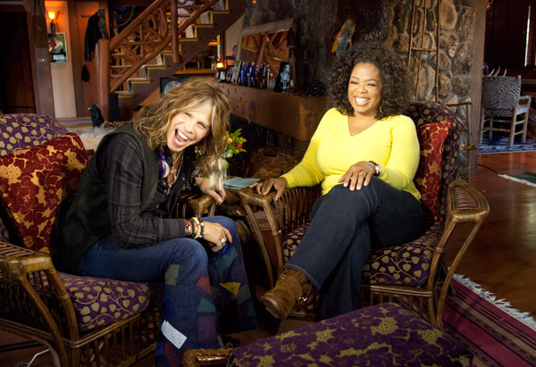 Oprah and Steven Tyler