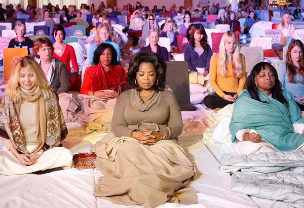 oprah meditating