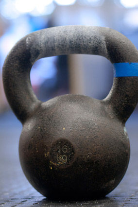 kettlebell weight at the gym