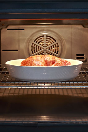 Chicken in an oven